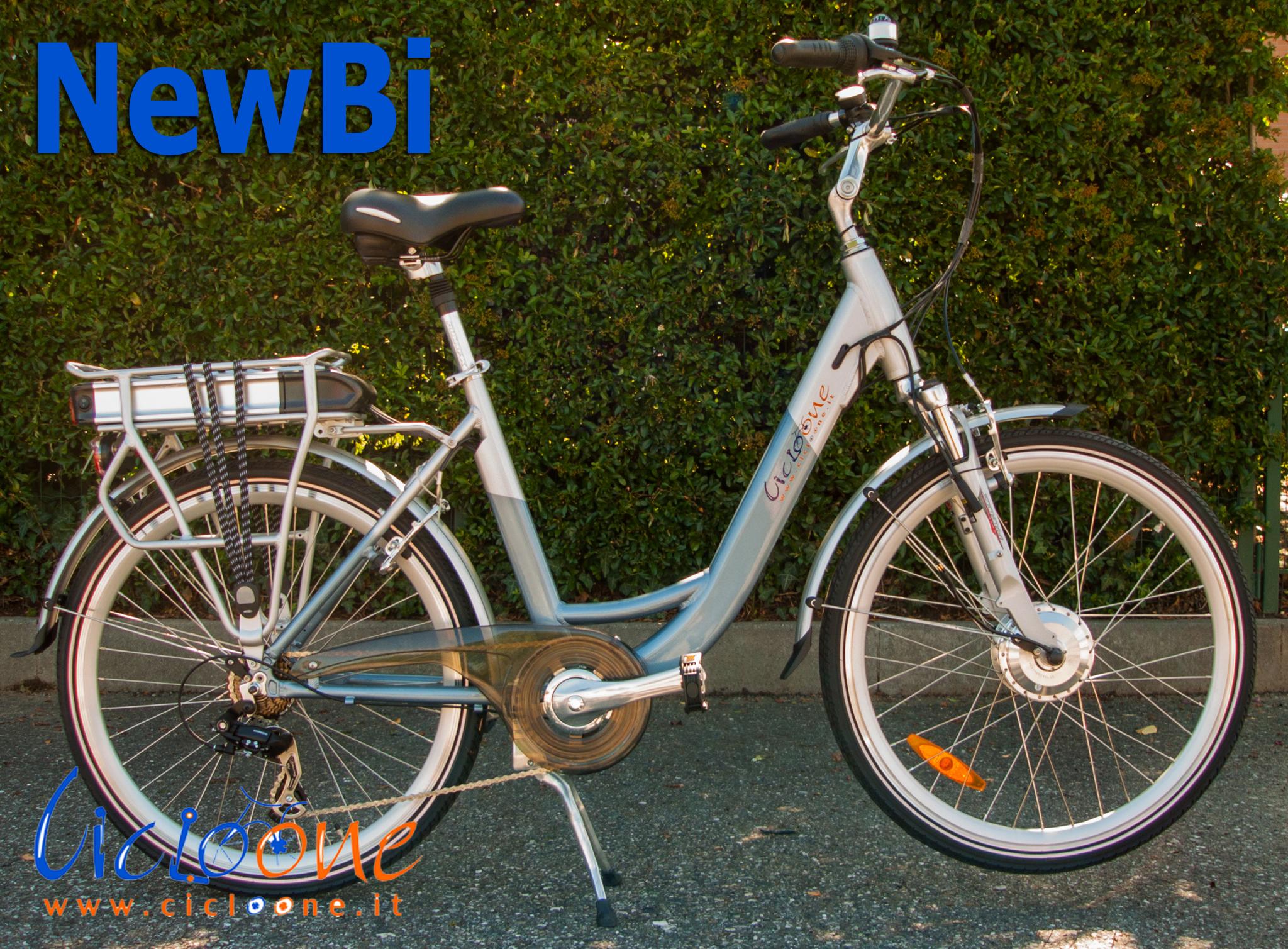 Bici elettrica NewBi telaio chiaro