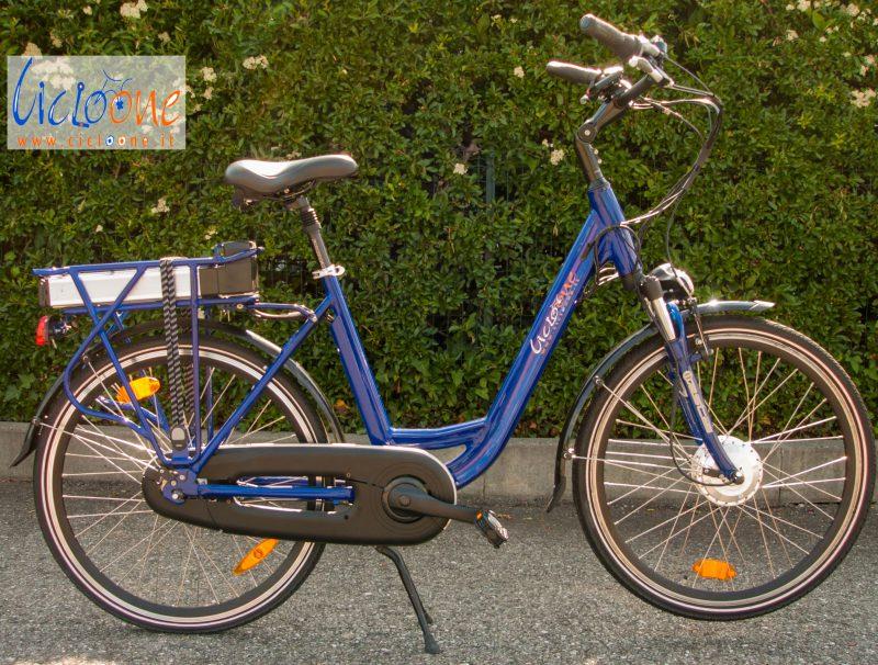 Bici DamperX con telaio alluminio blu