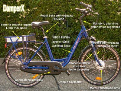 Bicicletta elettrica DamperX