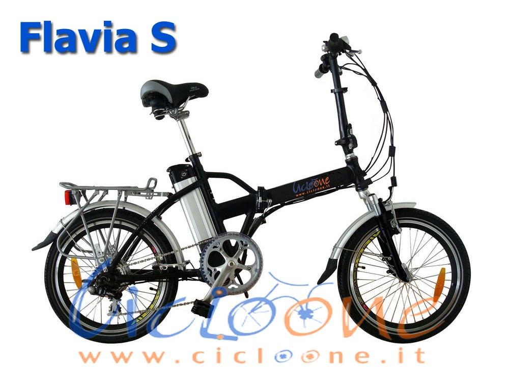 Bicicletta pieghevole Flavia S batteria 13ah