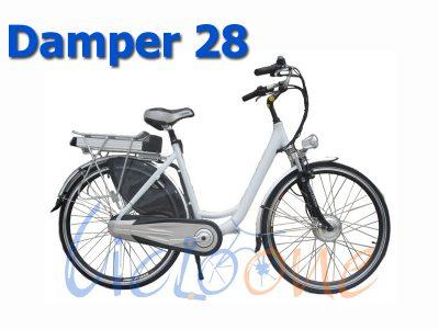 Bici elettrica ruota 28 Damper bianca
