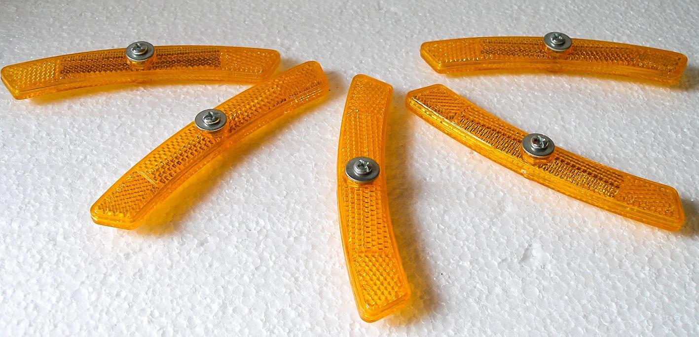 Catarinfrangenti colore arancio per raggi biciclette elettriche