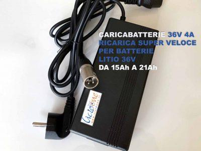 bici elettrica caricabatterie 36V 4A