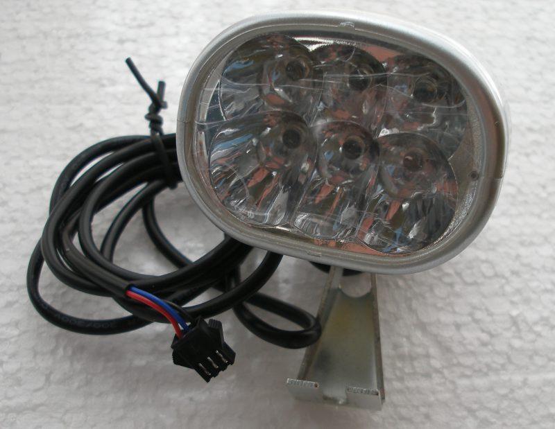 Fanale luce a 6 led bici elettrica