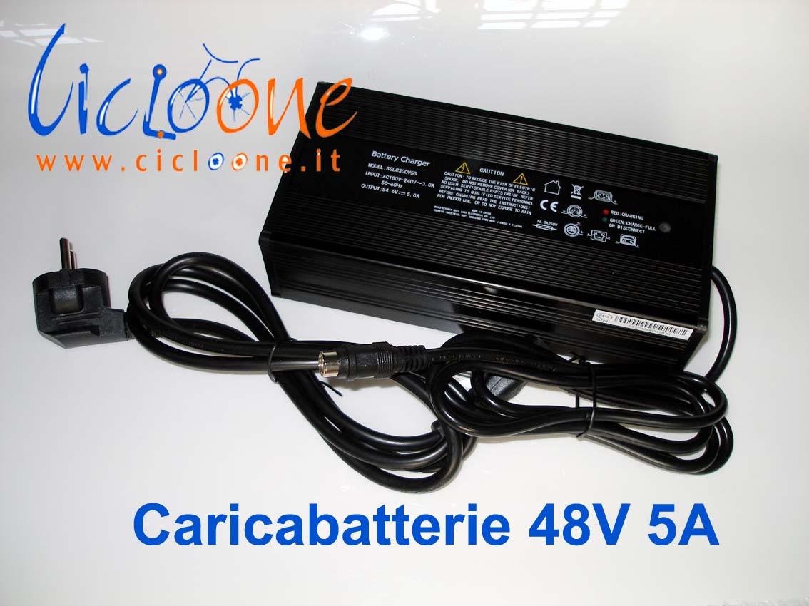 caricabatterie cover metallo nero moto elettrica 48V