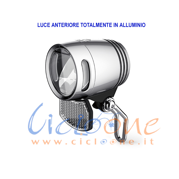 fanale anteriore alluminio 80 lux moto elettrica