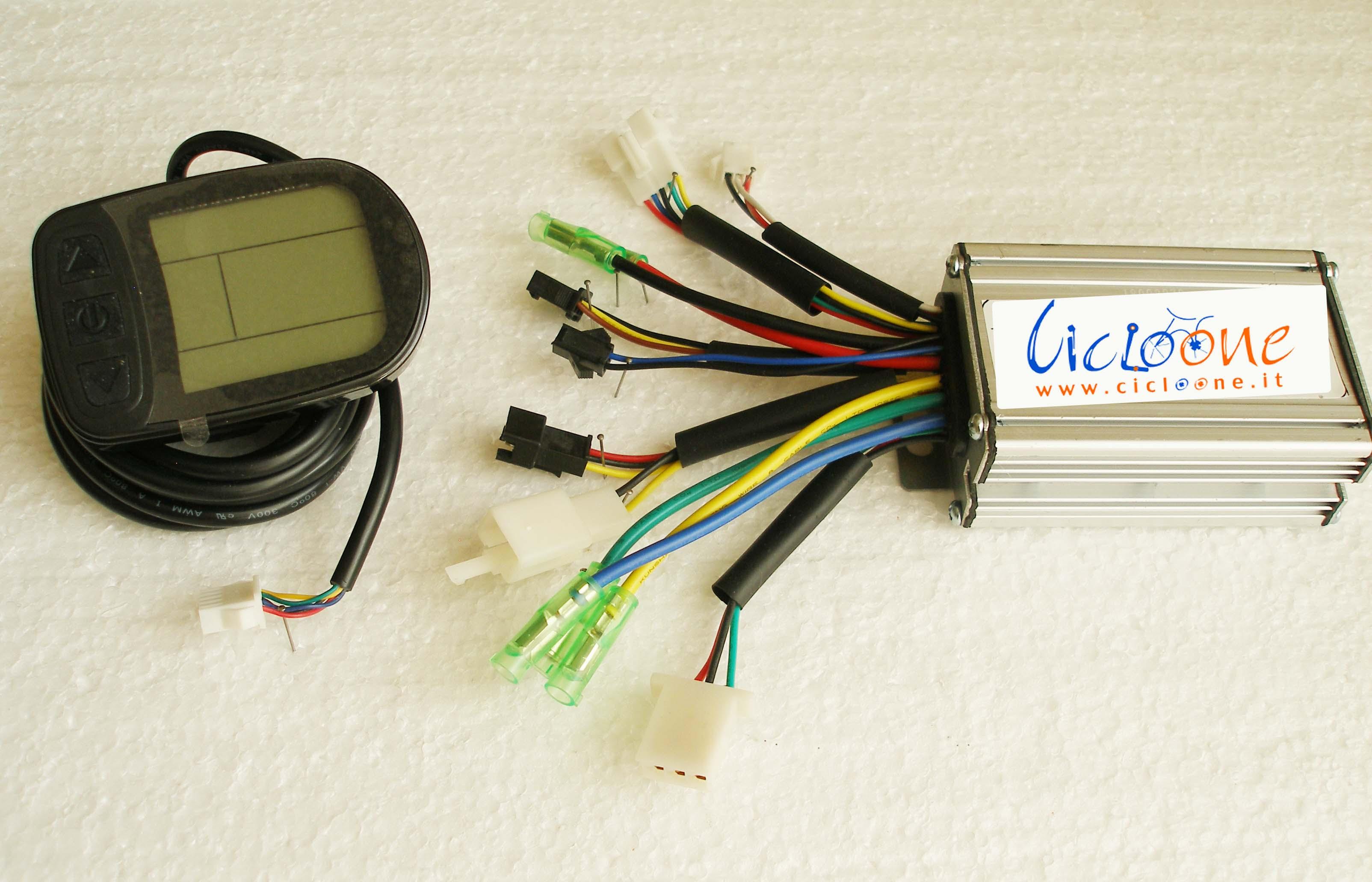 centralina 36V con mini display lcd nero