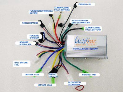 centralina per display led 5 fili con funzione reverse