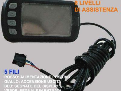 diplay led a 5 fili JP LCD1
