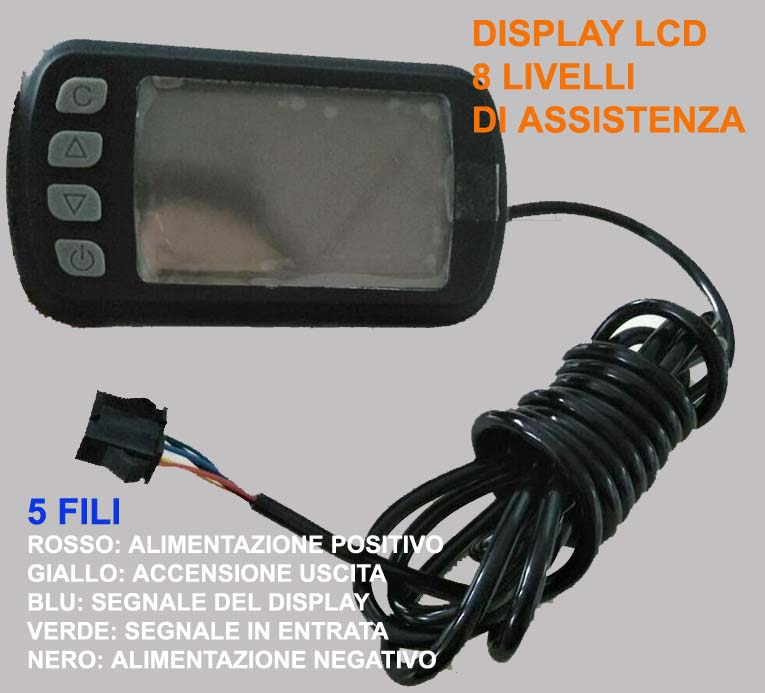 diplay led a 5 fili JP LCD1