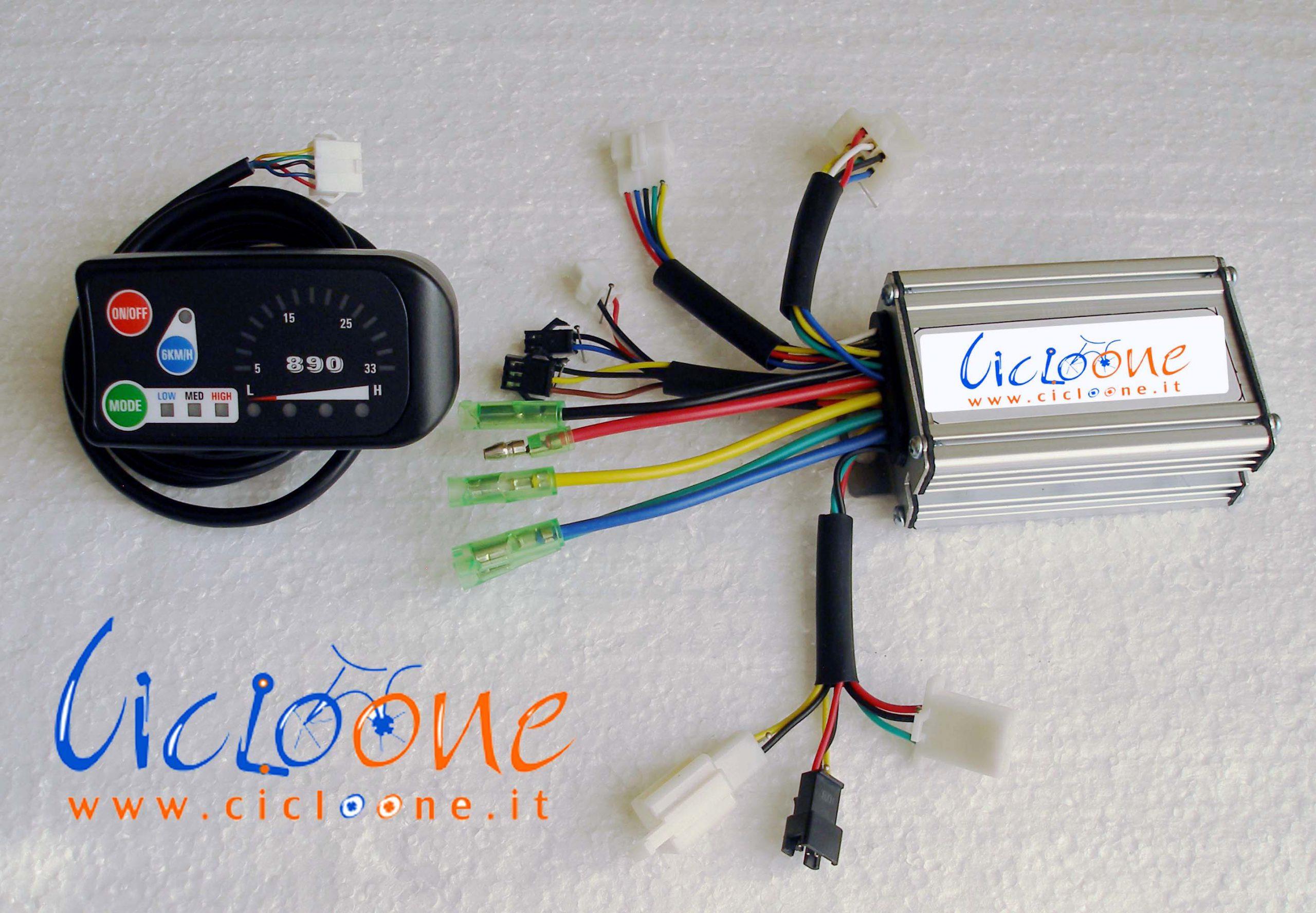 centralina sensore torque 250watt con display led 890