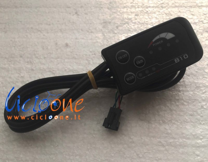 display led nero modello 810
