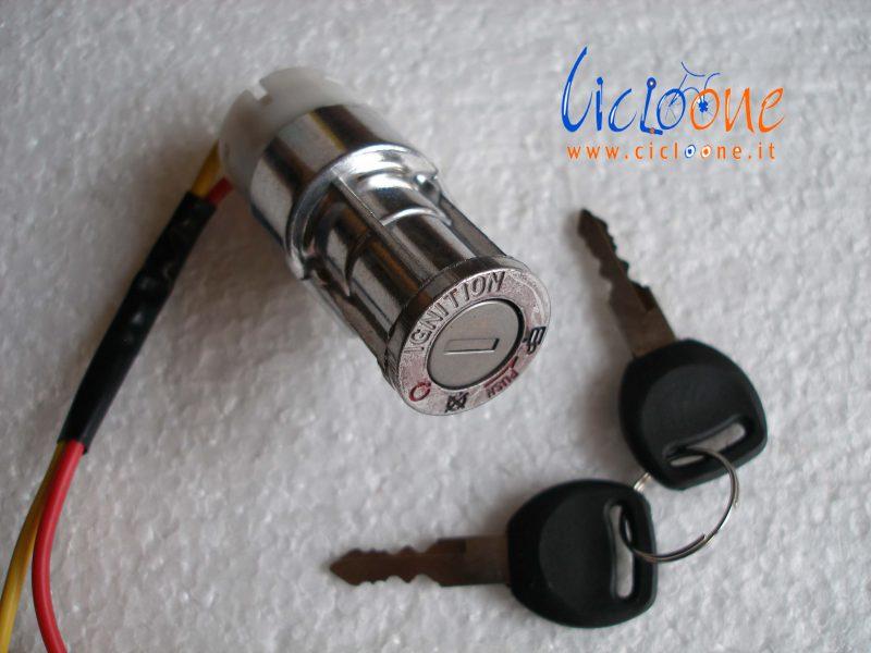 blocchetto accensione per batteria ebike