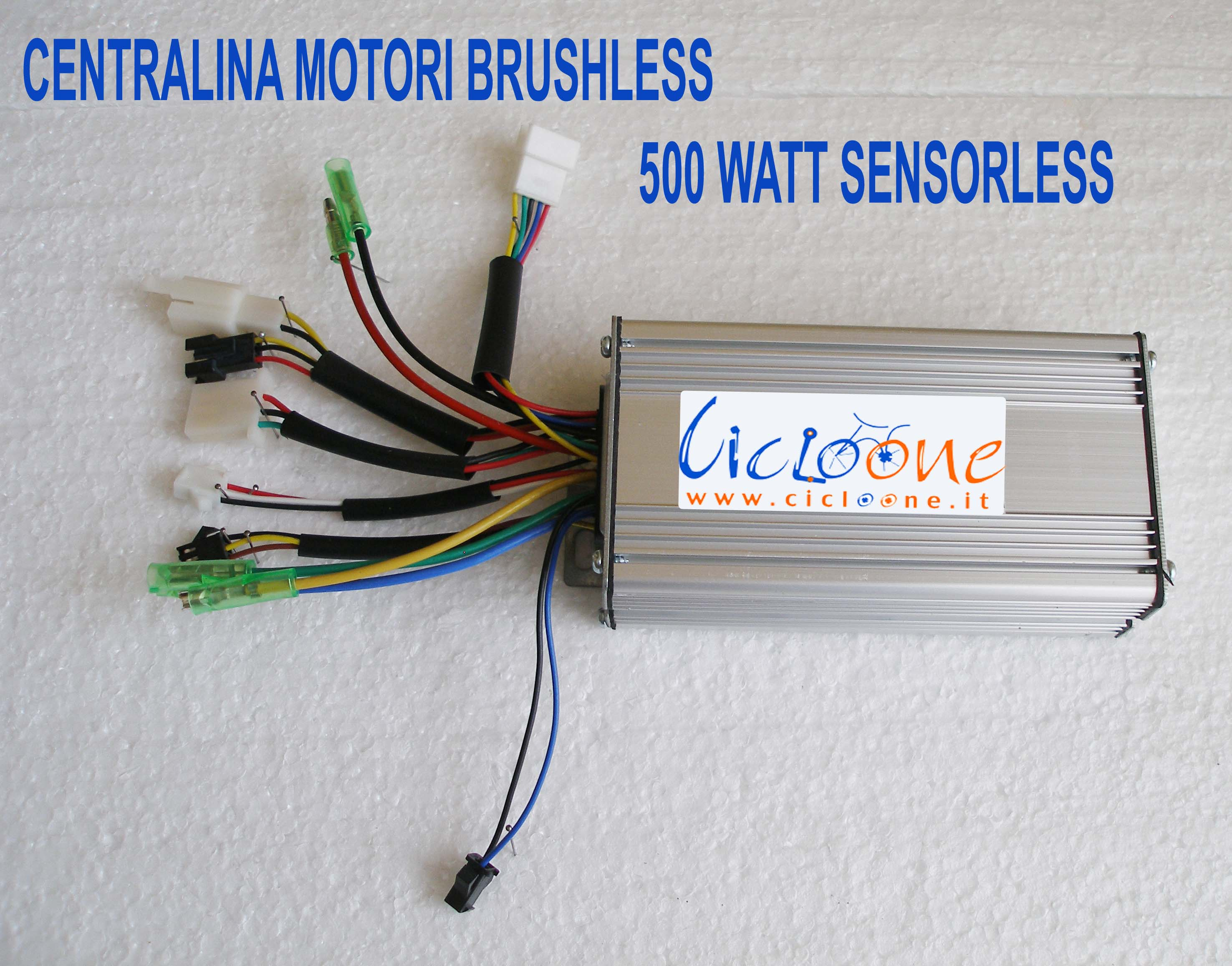centralina 500 watt motori brushless sensorless