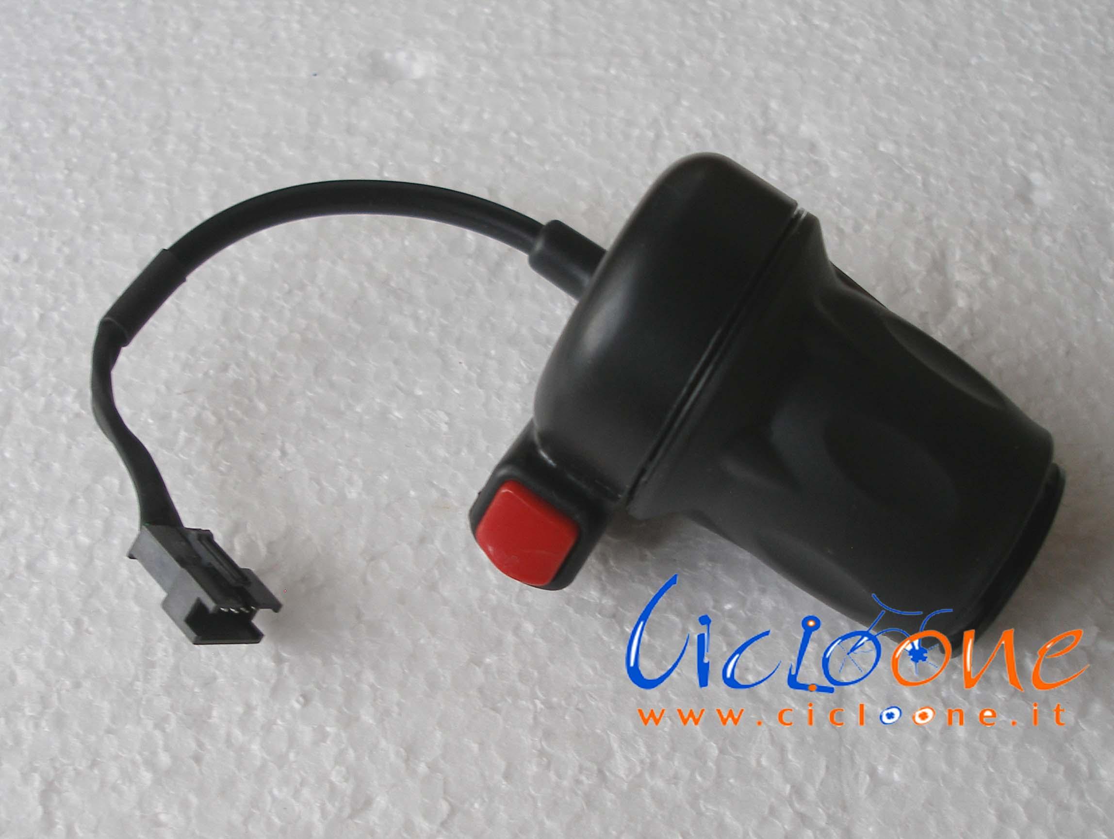 Acceleratore con pulsante bici elettrica a 5 fili