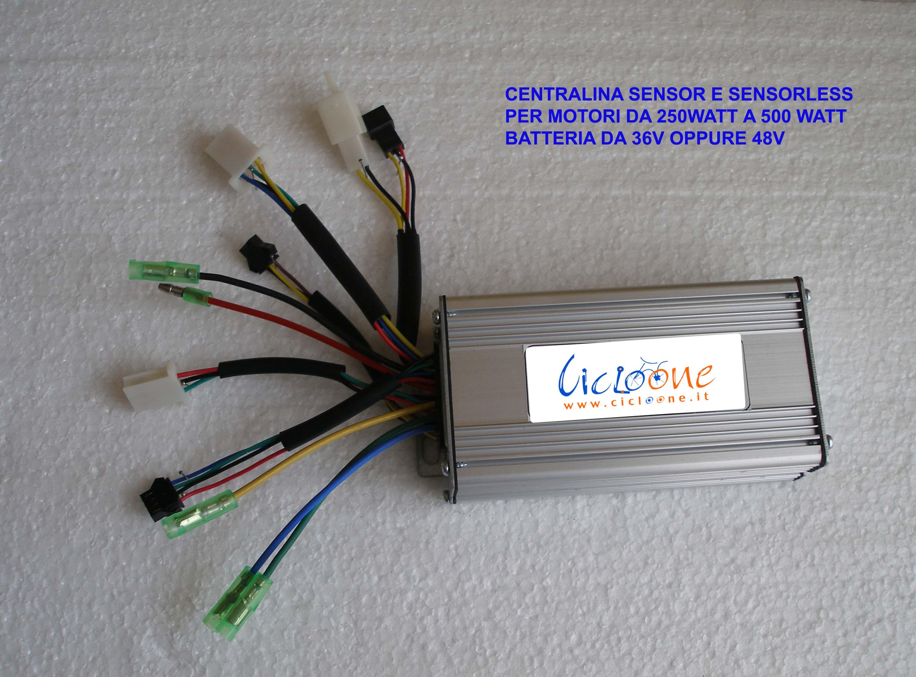 centralina 500 watt sensore e sensorless
