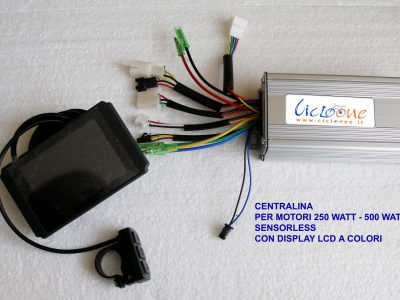 display colori e centralina 500 watt
