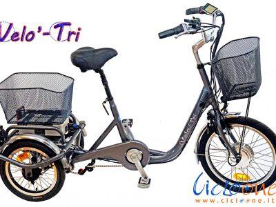 Triciclo elettrico anziani telaio argento