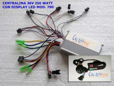 centralina 36V 250watt brushless con display led modello 790