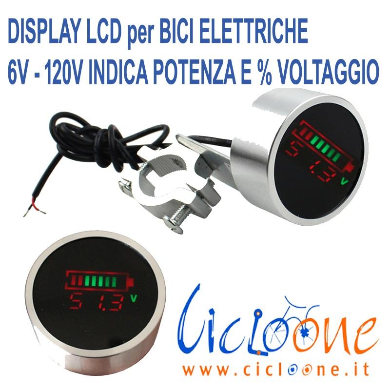 display led capacità potenza batteria
