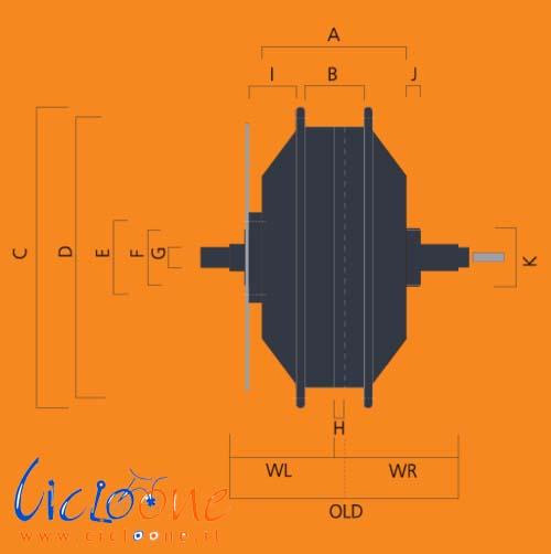 dimensione motore 250watt cicloone