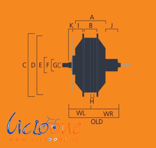 dimensione motore dettaglio misure