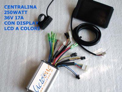 centralina potente display colori 250W