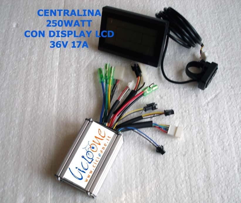 centralina con display 36V 17A 250w
