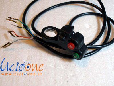 pulsante accensione luci clacson bici elettrica