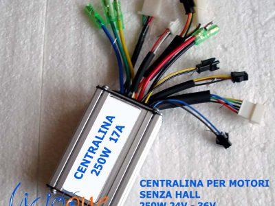 schema centralina 36V 17A bici elettrica