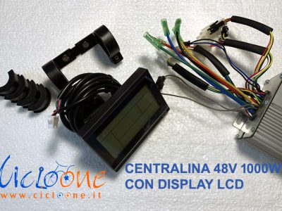 centralina 48V 1000W con display lcd nero