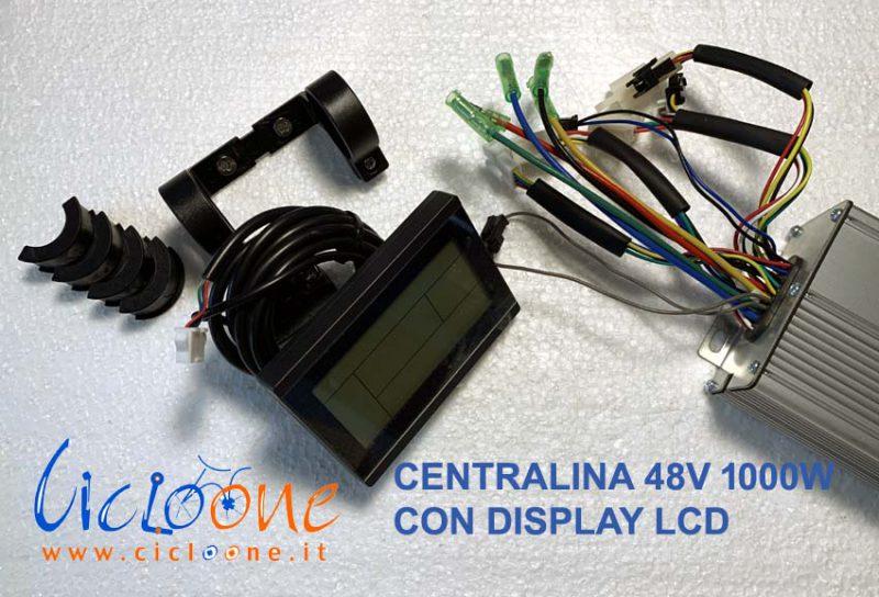 centralina 48V 1000W con display lcd nero