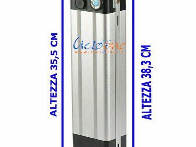 batteria litio 36V cover argento