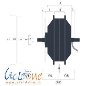 dimensioni motore bafang