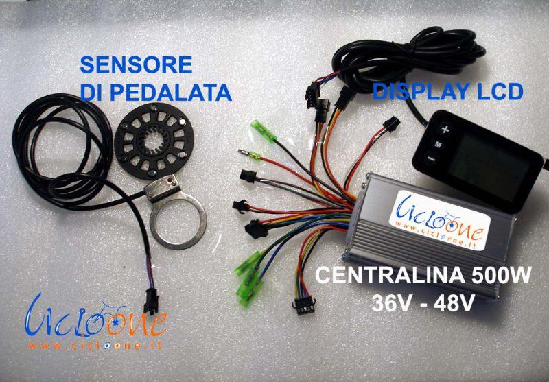 controller centralina sensore pedalata display