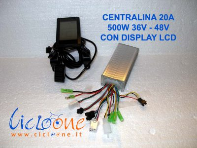 centralina 500w con display lcd