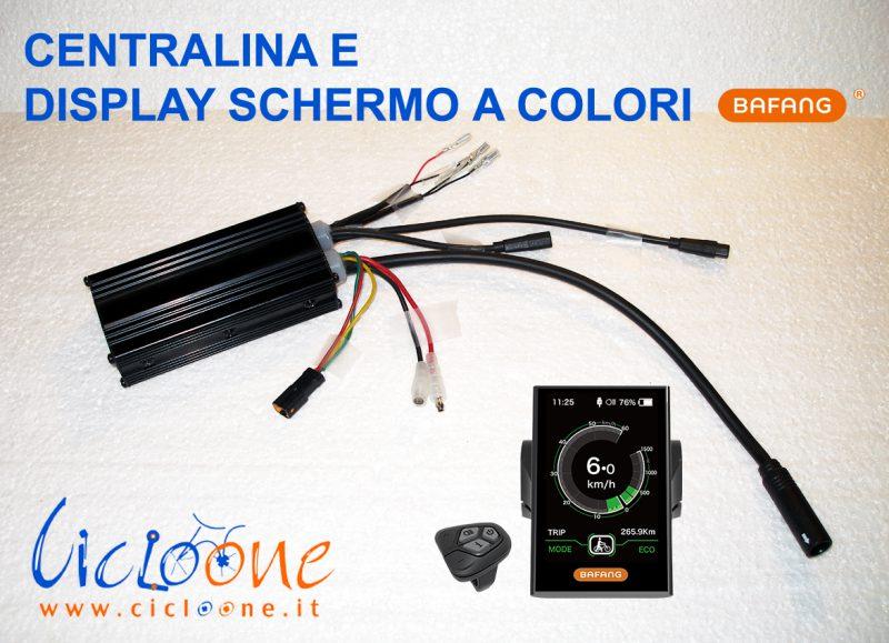 centralina 500w bafang display colori