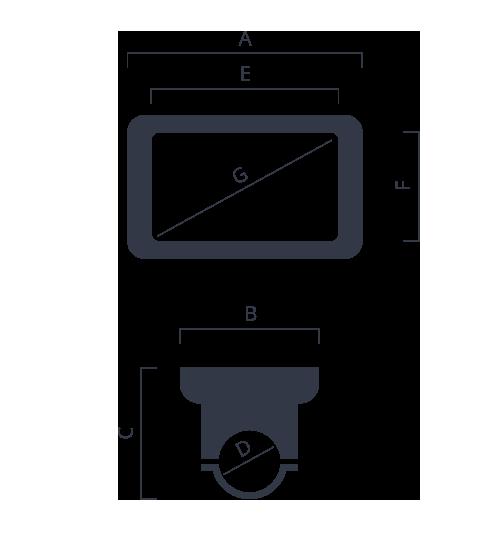 dimensione display bafang DP-07