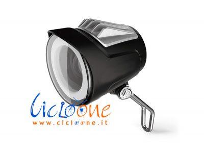 luce anteriore con clacson e supporto metallo