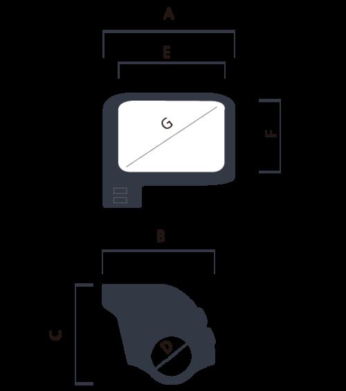 schema dimensioni display