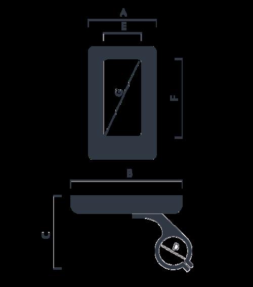 schema dimensioni display DP C181