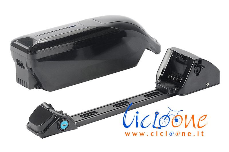 batteria particolare vista laterale bici