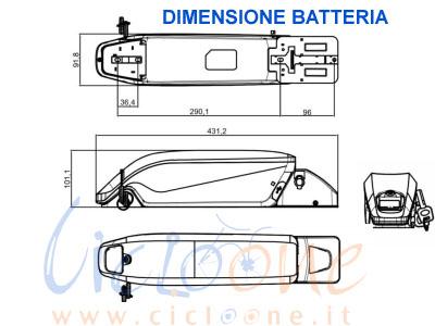 dimensione batteria da 48V