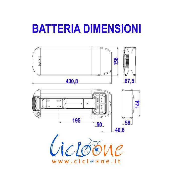 dismensioni batteria schema