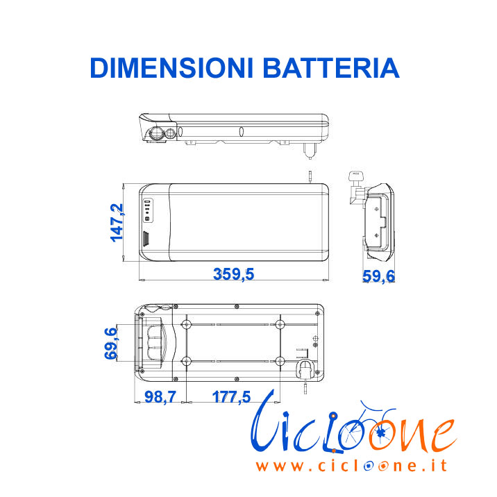 disegno tecnico batteria nera