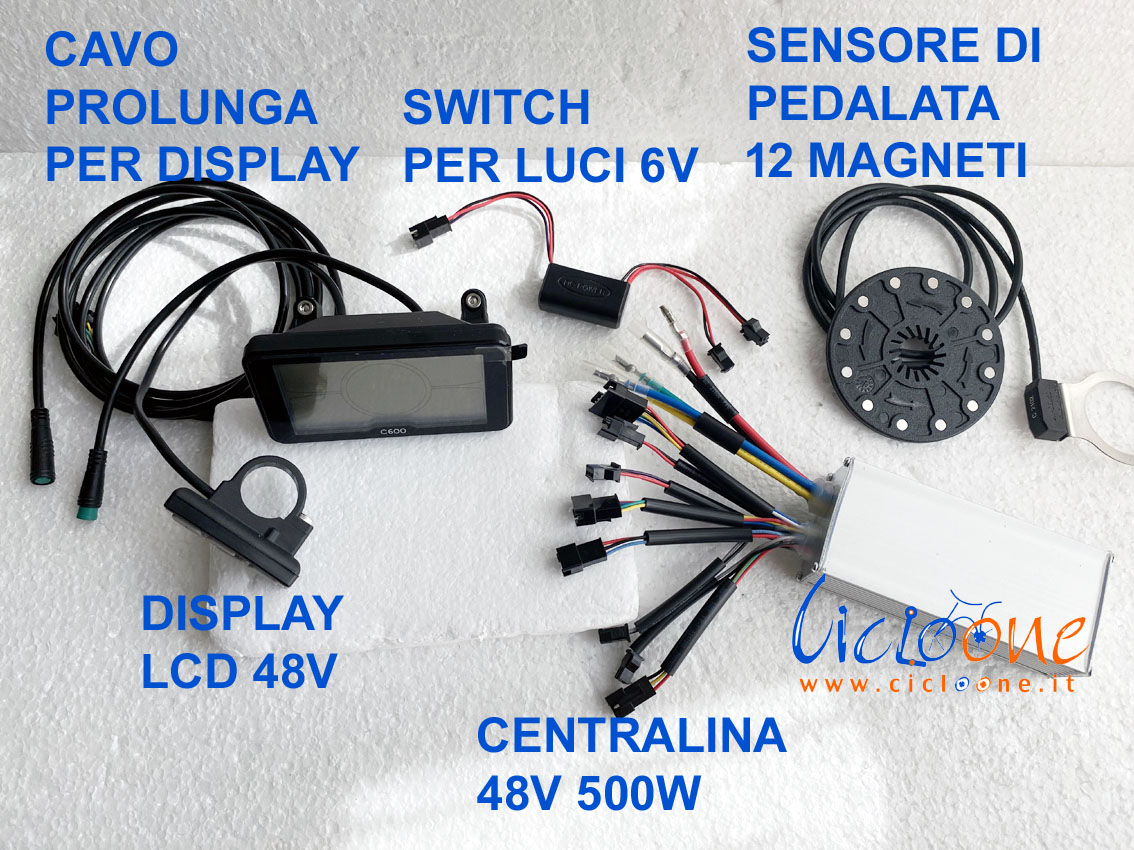 centralina 500w con i suoi componenti