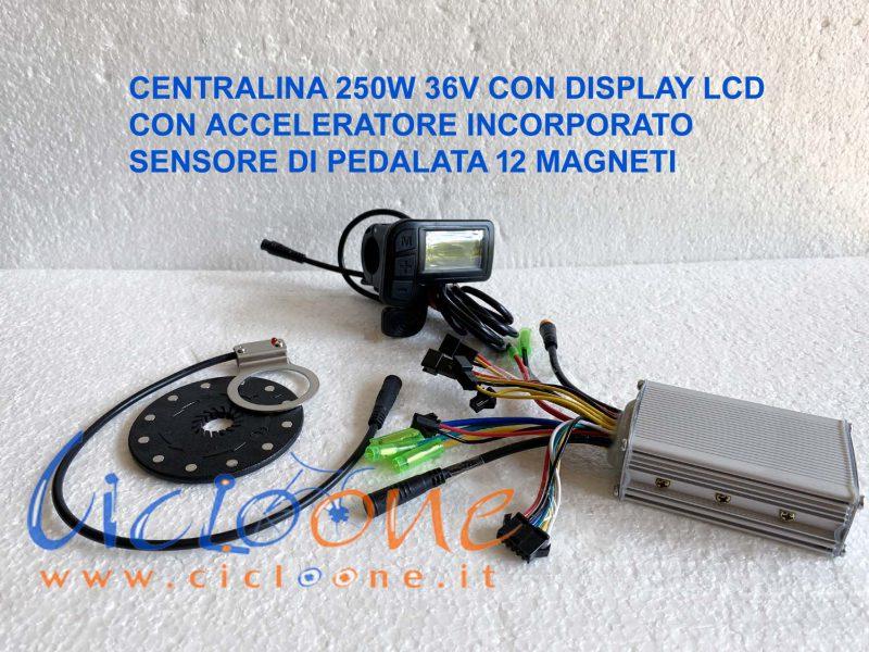 centralina brushless lcd sensore pedalata