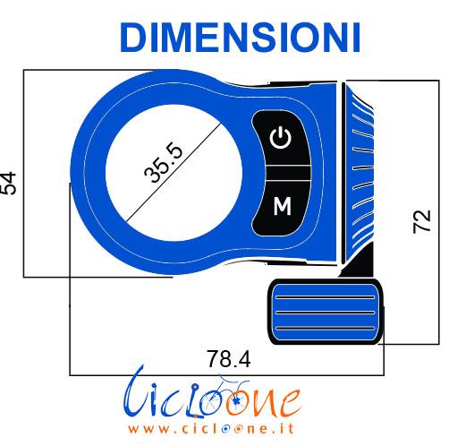 Dimensioni display