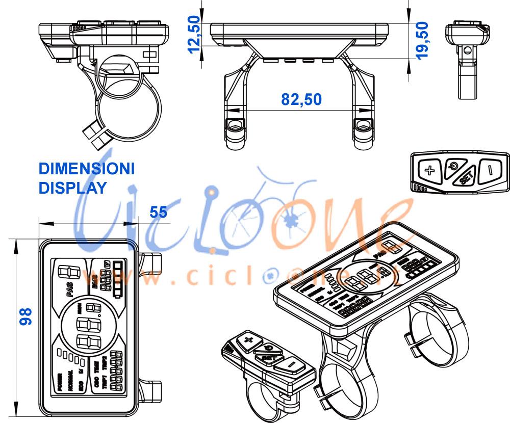 display lcd disegno tecnico