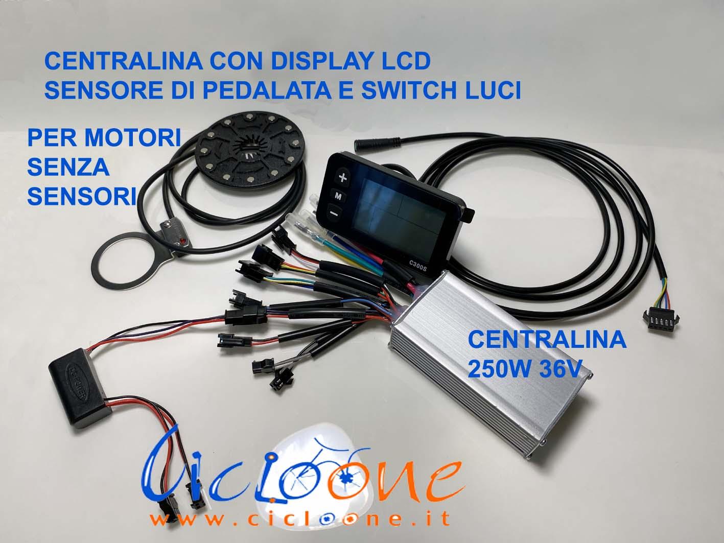 bici elettrica kit 36V con display lcd